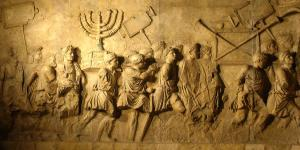 Romans looting the Jerusalem Temple, located on Arch of Titus, www.uni.edu