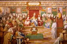 The Council of Nicea, fresco in the Sistine Chapel of the Vatican.