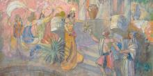The Seduction of Corianton by Minerva Teichert. Image via BYU Studies.