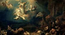The Angel Appearing to the Shepherds by Govert Flinck