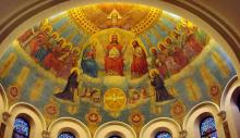 The Heavenly Court, the apse in St. Benedict Parish