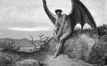 Lucifer from Milton's Paradise Lost by Gustave Dore (1866)