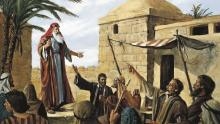 Lehi Prophesying in Jerusalem via LDS Media Library