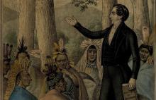"""Joseph the Prophet Addressing the Lamanites"" by H.R. Robinson via josephsmithpapers.org"