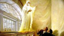 """Christ Appears in the Kirtland Temple"" by Walter Rane"