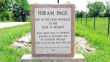 Image of Hiram Page Grave Site by Kenneth Mays.