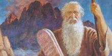 Moses and the Tablets by Jerry Harston via lds.org