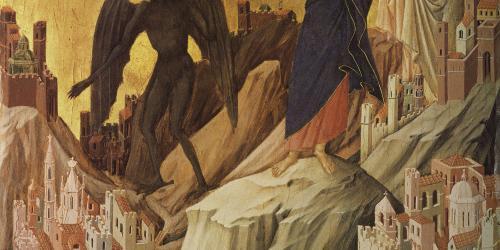 The Temptation of Christ on the Mountain by Duccio di Buoninsegna