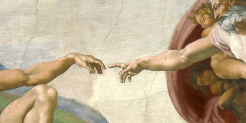Detail of the Sistine Chapel Ceiling by Michelangelo