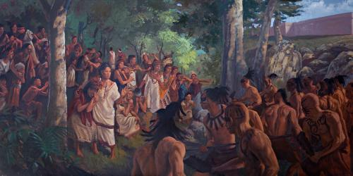 Courageous Nephite Daughters. Painting by James Fullmer.