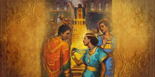 """As Alma taught about faith he finished with what is now know as the """"Nephite Creed"""". """"Set Upon Gold"""" by Annie Henrie."""