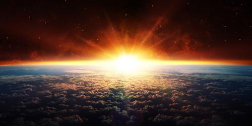 Sunset in Orbit by Romolo Tavani