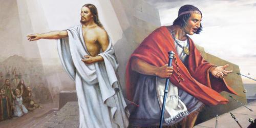 Composite He aqui soy Jesucristo and Samuel en la muralla by Jorge Cocco