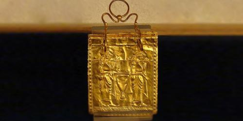 Etruscan Gold Book, dating to 600 BC via templestudy.com