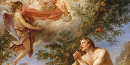 """The Rebuke of Adam and Eve,"" by Charles Joseph Natoire"