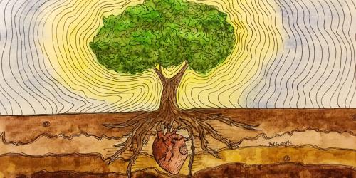 The Tree of Life by Kaitlin Acosta. Submitted to the 2018 Book of Mormon Central Art Contest.