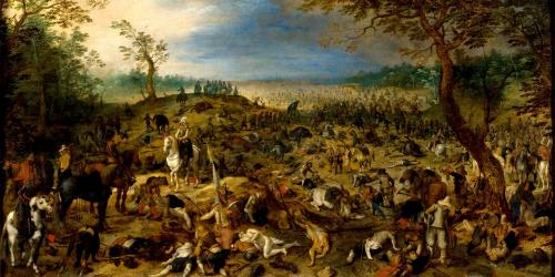 Battle Scene by Sebastiaen Vrancx. Image via Wikimedia Commons.