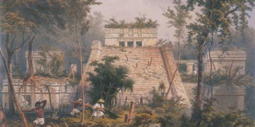 Castle at Tuloom by Frederick Catherwood. Image via Archive.org