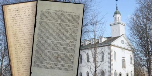 Doctrine and Covenants 88 and 109 via The Joseph Smith Papers. Image of the Kirtland Temple via Kenneth Mays