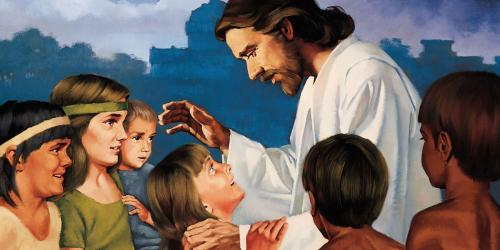 Christ Blessing the Nephite Children by Ted Henninger