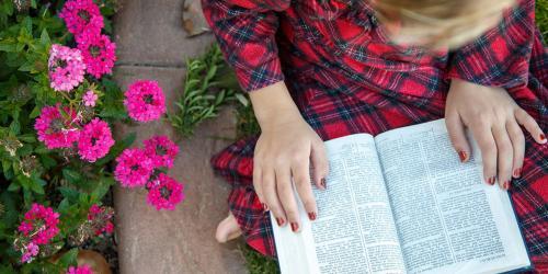 Scriptures in a Garden via LDS Media Library