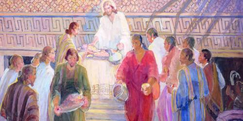 The Sacrament Mural by Minerva Teichert