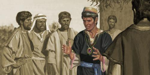 Sherem went about teaching that Jacob was a false prophet and that there would be no Messiah. Image via lds.org.