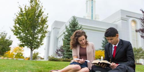 Reading Scriptures Outisde the Temple via lds.org
